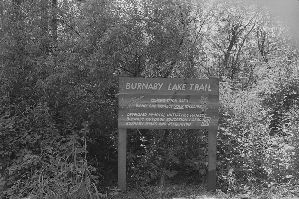 Burnaby Lake Trail Sigh - Source: Burnaby archives