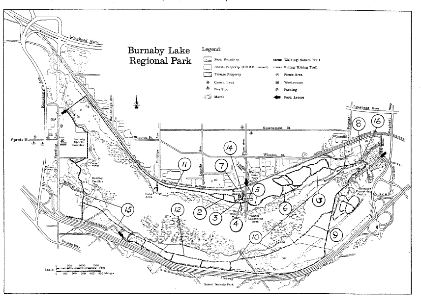 Burnaby Lake Trail stages - Source: The Group of Ten, Bob Gardner